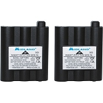 Midland Radio BATT5RX Rechargeable Battery Pack - For Two-way Radio - Battery Rechargeable - 6 V - Nickel Metal Hydride (NiMH) - 2 / Pack MIDLAND GXT - AVP17